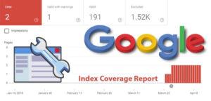 کاوریج در گوگل سرچ کنسول