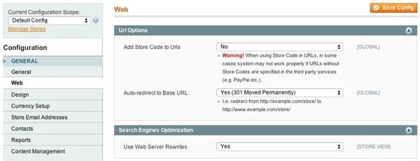 بهینه سازی URL در مجنتو